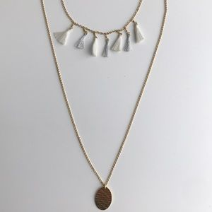 J crew layer necklace